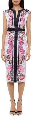Ted Baker Shawnie Painted Posie Fitted Midi Dress $279 thestylecure.com