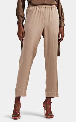 Juan Carlos Obando Women's Washed Satin Track Pants - Taupe
