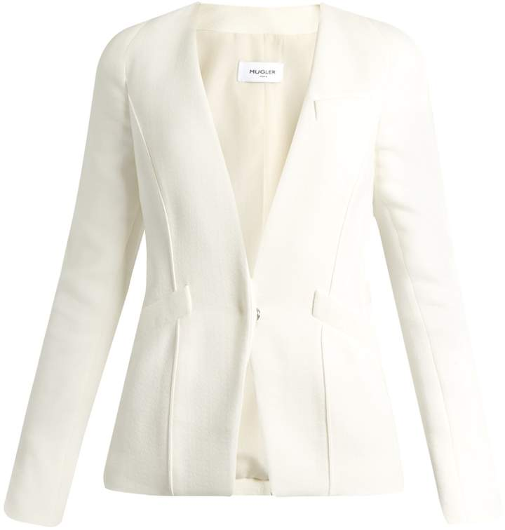 Thierry Mugler V-neck crepe blazer