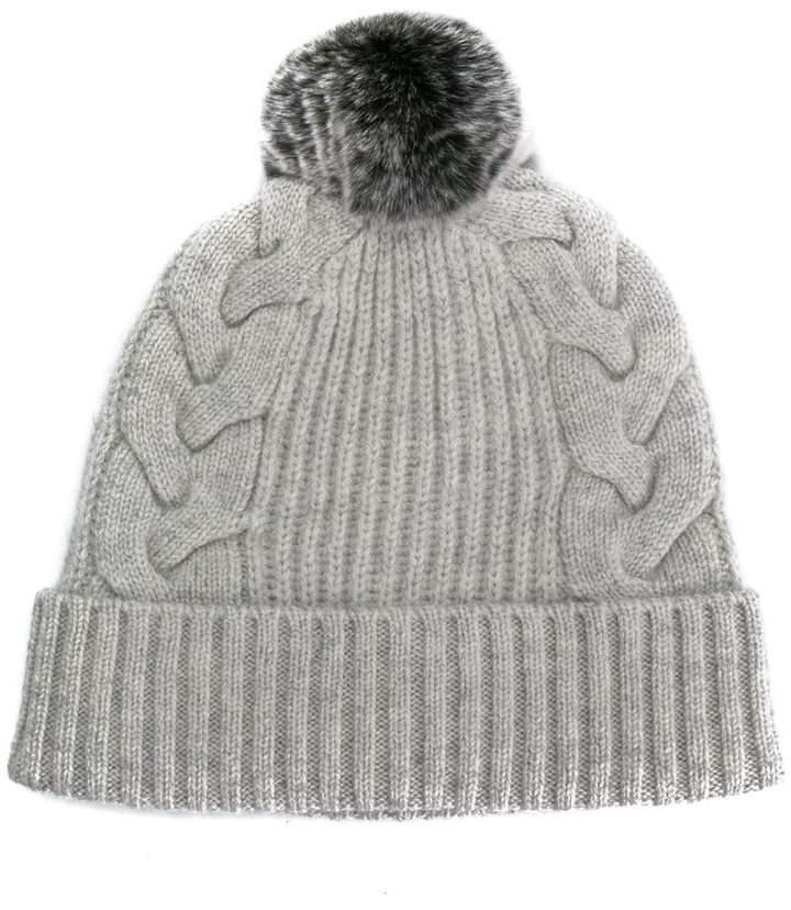 69a82f3baeff78 ... where can i buy n.peal pompom beanie hat shopstyle 8e45b 6a46e ...