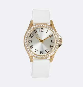 Avenue Gold Face Rubber Strap Watch