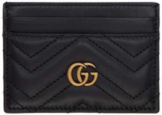 Gucci Black GG Marmont 2.0 Card Holder