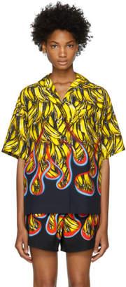 Prada Multicolor Bananas and Flames Shirt