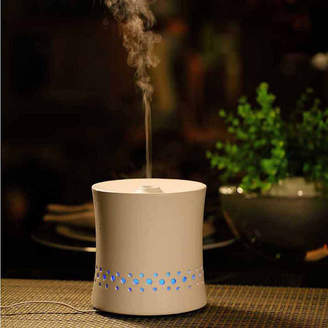 Asstd National Brand SPT SA-055W: Ultrasonic Aroma Diffuser/Humidifier with Ceramic Housing - White