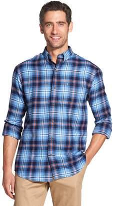 Izod Men's Classic-Fit Plaid Flannel Button-Down Shirt