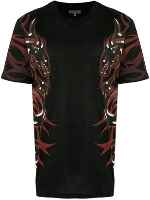 Lanvin dragon tribal-printed T-shirt
