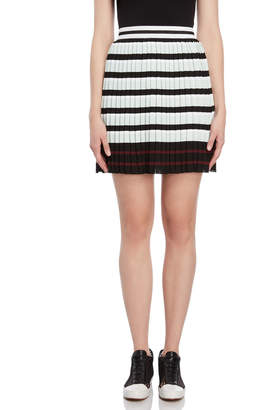 I'M Isola Marras Striped Knit Pleated Skirt