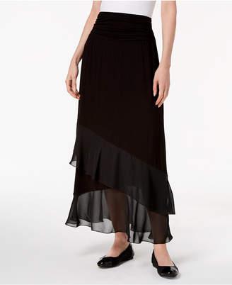 JM Collection Layered Chiffon Maxi Skirt
