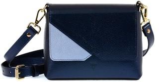 Atelier Hiva Mini Mare Leather Bag Metallic Navy Blue & Baby Blue