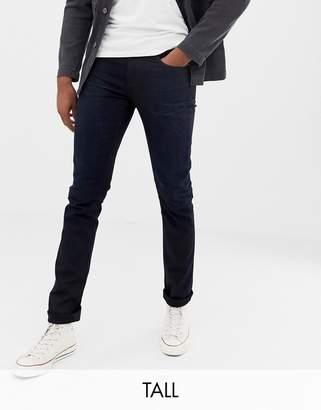 Nudie Jeans Tall Lean Dean tapered jeans black n blue