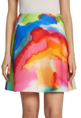 Ralph Lauren Collection Corinne Splash-Print Skirt $690 thestylecure.com