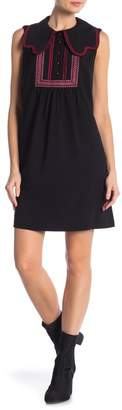 Anna Sui Solid Crepe Dress