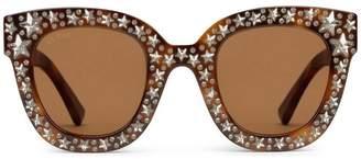 Gucci Cat eye acetate sunglasses with stars