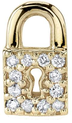 Sydney Evan Diamond Key Hole Lock Stud Earring - Yellow Gold