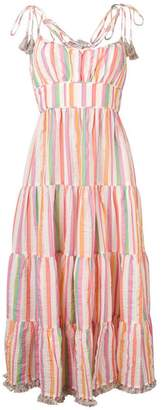 Zimmermann striped flared dress