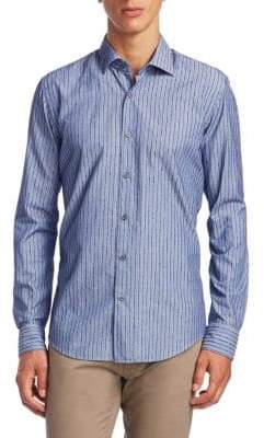 Saks Fifth Avenue COLLECTION Stripes Cotton Button-Down Shirt