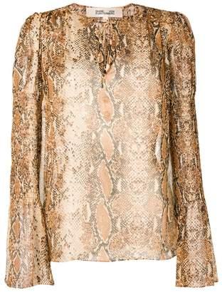 Diane von Furstenberg snakeskin print blouse