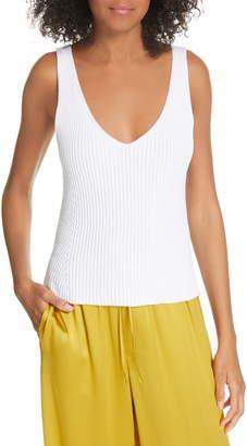 93852283fccf00 Vince Directional Rib Cotton Knit Tank Top