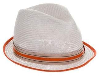Inverni Straw Fedora Hat w/ Tags
