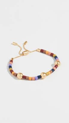Madewell Rainbow Beaded Slider Bracelet
