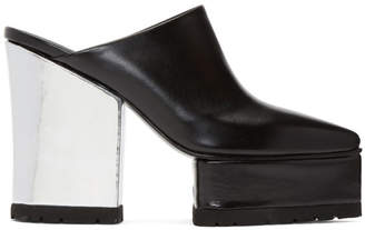 Sacai Black High Clog Heels