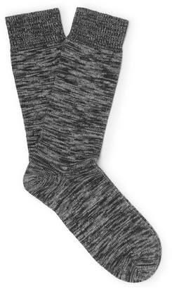 Oliver Spencer Loungewear Miller Mélange Stretch Cotton-Blend Socks