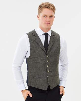 Brooksfield Windowpane HN Waistcoat