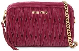 Miu Miu Quilted Velvet Shoulder Bag