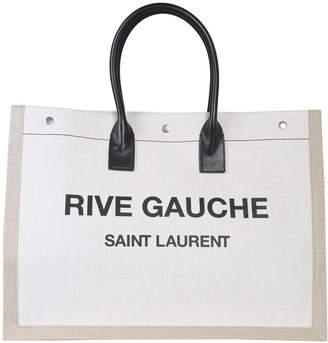 Saint Laurent tote bag with rive gauche logo