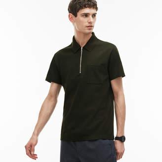 Lacoste Men's Slim Fit Zip Neck Cotton Pique Polo