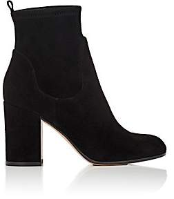 Gianvito Rossi Women's Chunky-Heel Suede Ankle Boots - Black