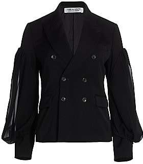 Comme des Garcons Women's Double Breasted Blouson Sleeve Jacket