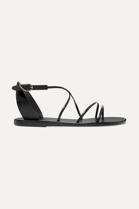 Ancient Greek Sandals Meloivia Leather Sandals - Black