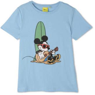 NEW Milkshake Junior Boys Mickey Mouse Cool Surfer Tee Blue