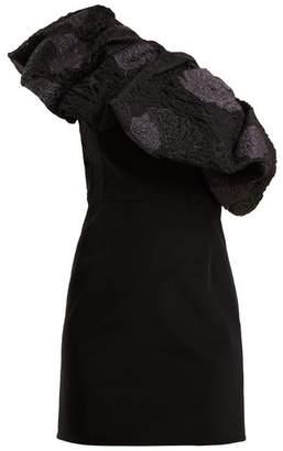 Emilio De La Morena One Shoulder Floral Brocade Dress - Womens - Black