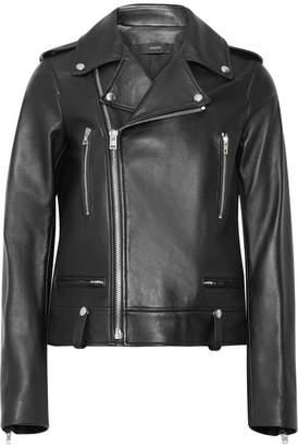 Ryder Leather Biker Jacket - Black