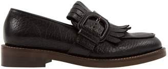 Marni Black Leather Flats