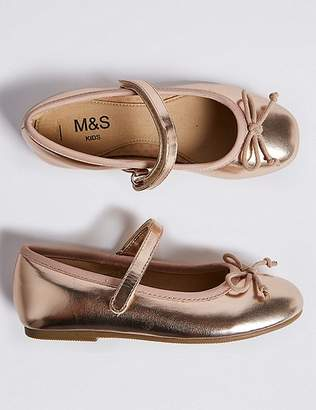 Marks and Spencer Kidsâ Metallic Ballet Shoes (5 Small - 12 Small)