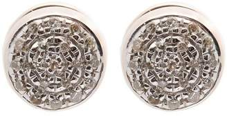 Monica Vinader Rose Gold-Plated Fiji Button Diamond Stud Earrings