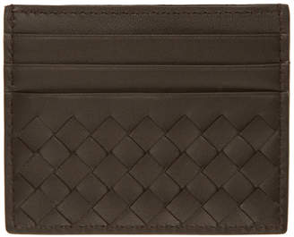 Bottega Veneta Brown Intrecciato Card Holder