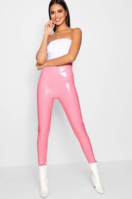 boohoo Georgia Vinyl High Waist Leggings