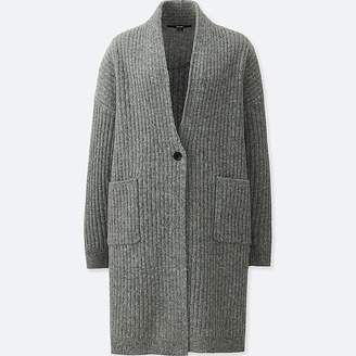 Uniqlo Women's Wool Ribbed Knitted Coat