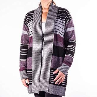 Pendleton Women's Cozy Stripe Wool/Alpaca Cardigan Sweater