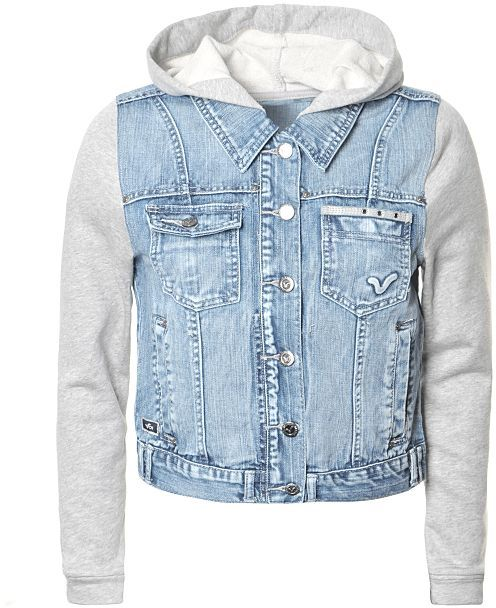 Voi Jeans Hooded Denim Jacket