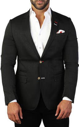 Maceoo Men's Socrates Hype Black Sports Blazer