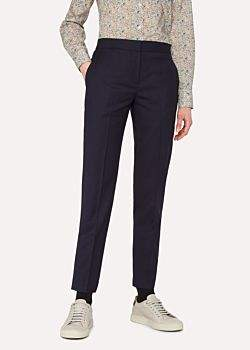 Paul Smith A Suit To Travel In - Women's Classic-Fit Dark Navy Wool Trousers