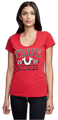 True Religion ATHLETIC TRUE HORSESHOE SCOOP NECK TEE