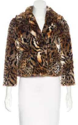Mother Faux Fur Animal Print Jacket