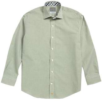 Thomas Dean Microcheck Dress Shirt (Big Boys)