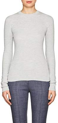 The Row Women's Riddi Compact Knit Long-Sleeve Top - Silver